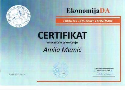 Certifikat Amila